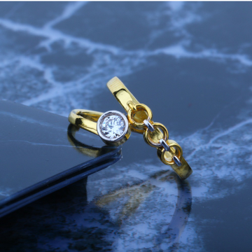 916 CZ Gold Ladies Solitaire Ring JJLR-026