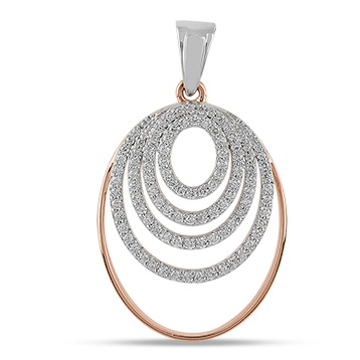 22kt gold and diamond machine cut round bridal pendant jkp007
