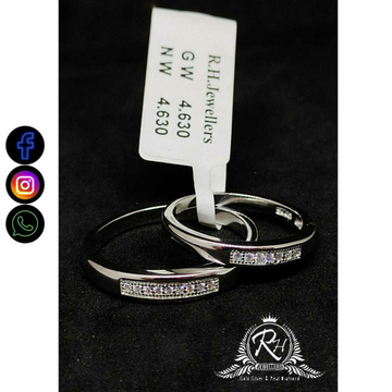 92.5 Silver Fancy Couple Rings RH-CR752