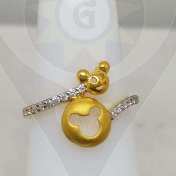 22KT Gold Cartoon Design Ring  by Parshwa Jewellers