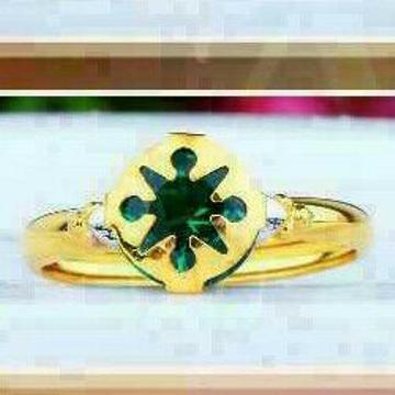 18Kt Gold Designer Single Stone Ring