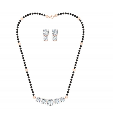 solitaire line mangalsutra