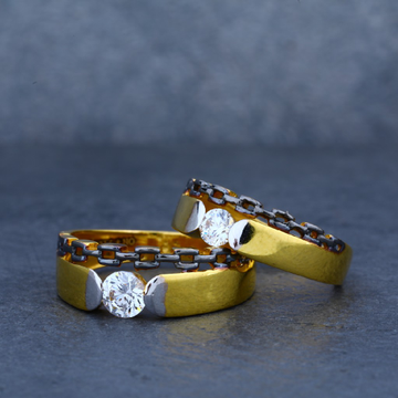 Engagement couple gold fancy 22ct ring-cr07