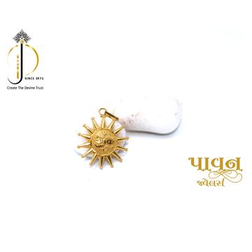 22KT / 916 Gold Plain Surya Pendant For Men PNG008... by