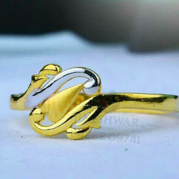 916 Casual Were Plain Gold Casting Ladies Ring LRG -0695