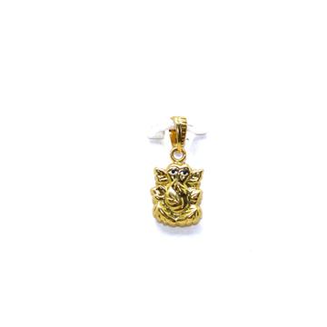 22KT / 916 Gold Hollow Ganpatiji Pendant For Men P... by