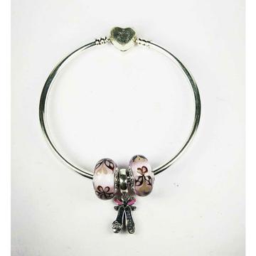Fancy 925 Silver Ladies Pandora Kada Bracelet