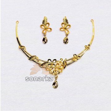 916-Light-Weight-Floral-Design-Gold-Necklace by