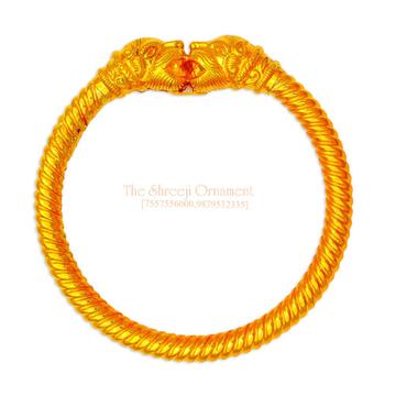 916 Gold Fancy 1 Piece Variya Kadali - 002