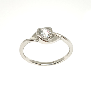 925 Sterling Silver Solitaire Diamond Ring MGA - LRS3369