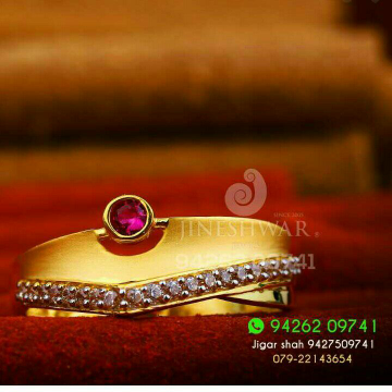 Stunning Gold Cz Ladies Ring LRG -0144