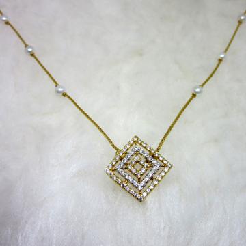 Gold micro diamond squre shape dokiya