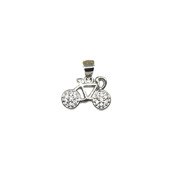 925 Sterling Silver Kids Bicycle Pendant MGA - PDS0165