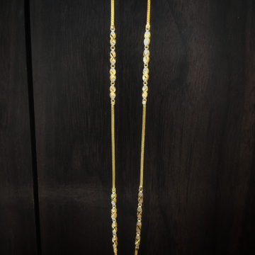 22 carat gold fancy ladies chain by Suvidhi Ornaments