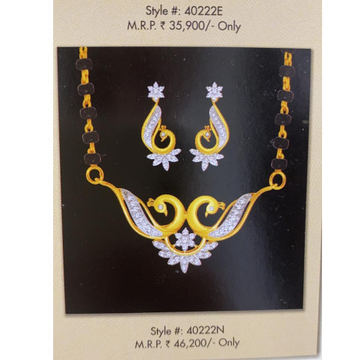 real diamond mangalsutra