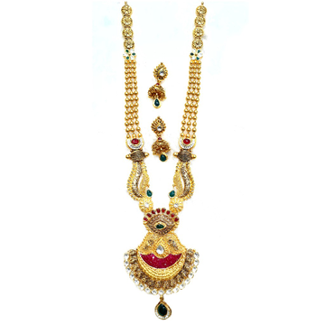 22k gold antique long necklace set mga - gn0055