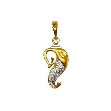 22K Gold Ganesh Pendant MGA - PDG1157