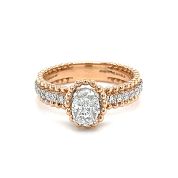 Mignon Diamond Ring with Solitaire Effect - 0LR136