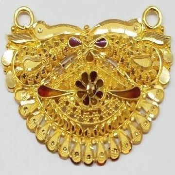 22k  YELLOW Gold Halmarked Double Kunda Pendent by