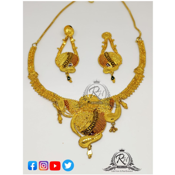 22 carat gold traditional ladies set RH-ST093
