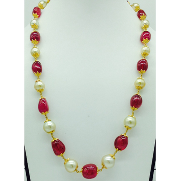 South sea pearls with ruby tumbles gold taar neckl...