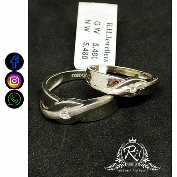92.5 Silver Classical Couple Rings RH-CR750