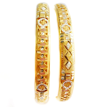 916 Plain Gold Simple Designer Bangles MGA - GK063