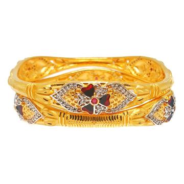 One gram gold forming kadli bangles mga - kde0015