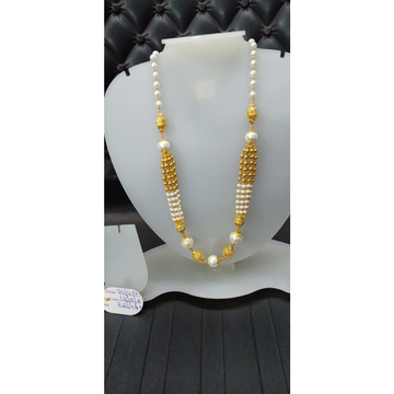 916 Gold Classic White Stone Fancy Mala