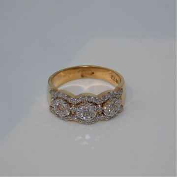 18K gold diamond ring agj-lr-292
