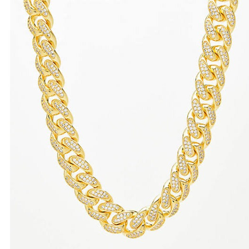 22kt gold and diamond chunky chain jkc001