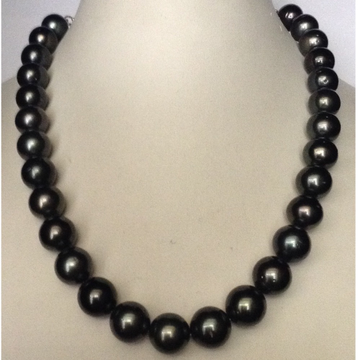 Black tahitian south sea pearls necklace