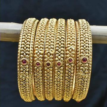 22KT yellow Gold 6Pices Set Bangles vocal For Local