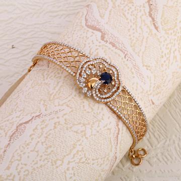 18ct Rose Gold CZ Gorgeous Ladies Kada Bracelet  R...