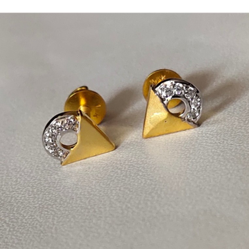 22K cz Gold  fancy Earring