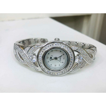 92.5 Sterling Silver Round Clock Hand Watch Ms-2882