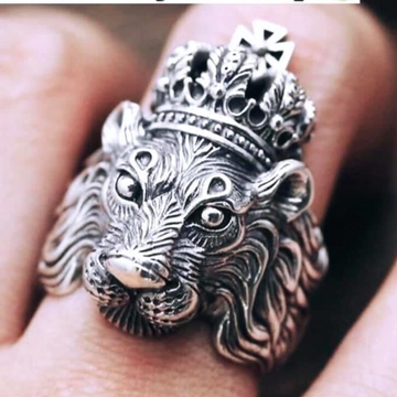 925 Starling Silver Oxodise Lion Ring RH-925R