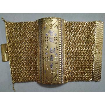 22KT Gold Rajwadi Jay Thakkar Gents Bracelet