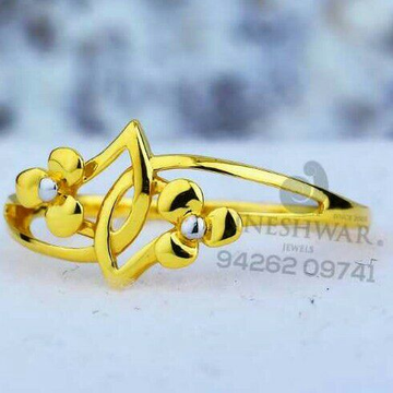 22kt Fancy Plain Casting Ladies Ring LRG -0544