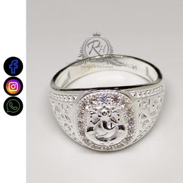 silver ganesh fancy rings RH-GR402