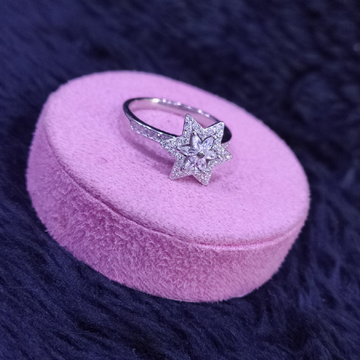 92.5 Sterling Silver Moving Star Ring For Women