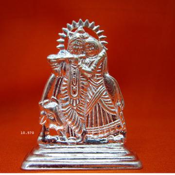 Silver Radha-Krishna Statue(murti) MRT-68