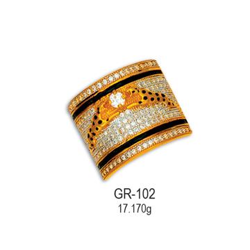 916-Gold-Cz-Diamond-Gents-Ring-GR-102