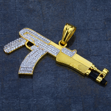 Men's 916 Exclusive Gun Gold Pendant - MHP02