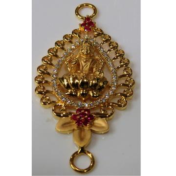 22kt gold casting cz goddes laxmi design chain side pendant(moguppu)