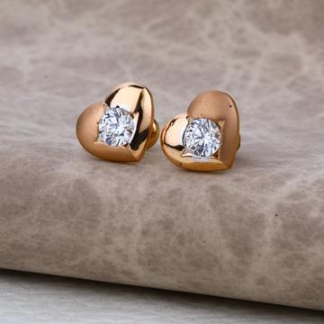 Ladies 18K Rose Gold Delicate Earring -RE27