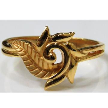 22kt gold plain casting modern ring for women plr-... by