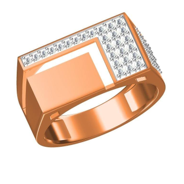18K GENTS ROSE GOLD DIAMOND RING by