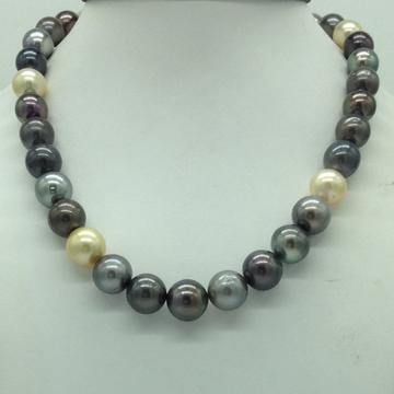 Muliticolour Round Tahitian South Sea Pearls Stran...