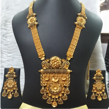 916 Gold Indian Wedding Necklace Set